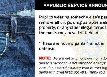 Not my pants is not a defense
